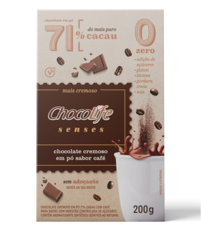 CHOCOLIFE SENSES CHOCOLATE CREMOSO SABOR CAFÉ